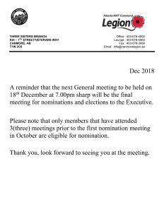 Notice of General meeting